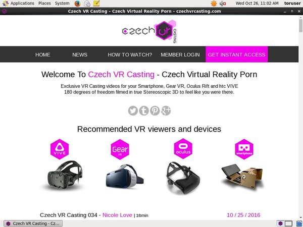 Czech VR Casting Using Pay Pal