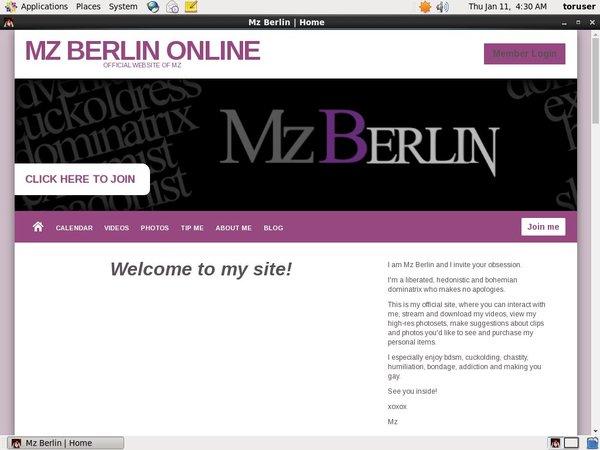 Get MzBerlin Deal