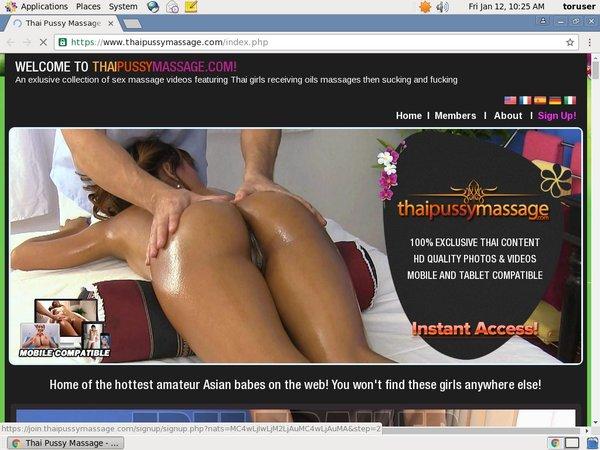 Free Login Thai Pussy Massage