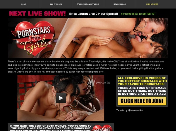 Free Porn Stars Love T-Girls Membership
