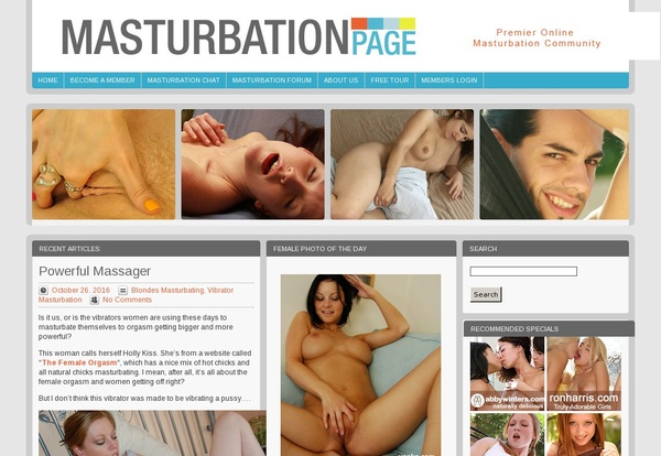 Masturbationpage.com New Accounts