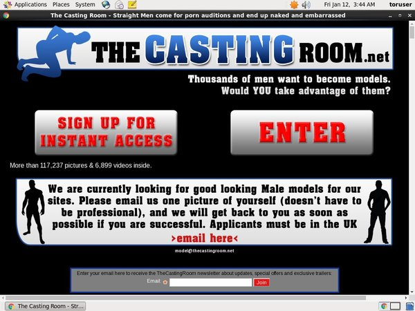 The Casting Room Account Login