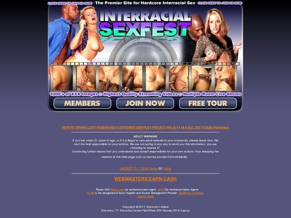 Interracialsexfest.com Free Trial Subscription