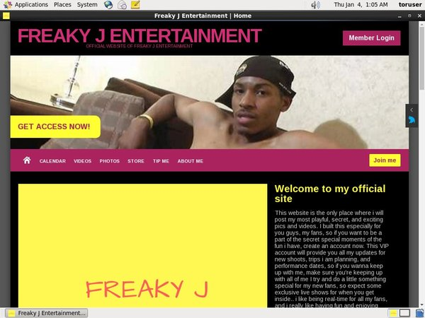 Discount Freaky J Entertainment Subscription