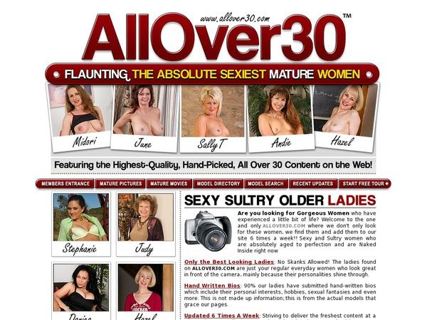 Allover30 Kennwort