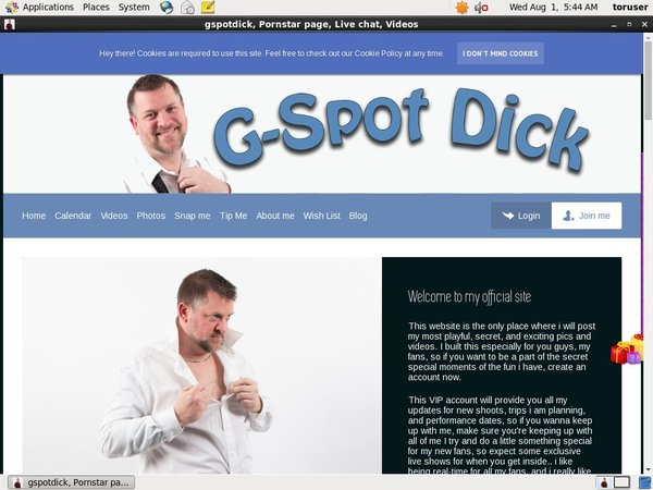 GSpot Dick Paysite Discounts